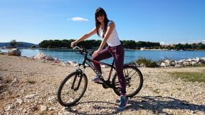 Zara in bicicletta
