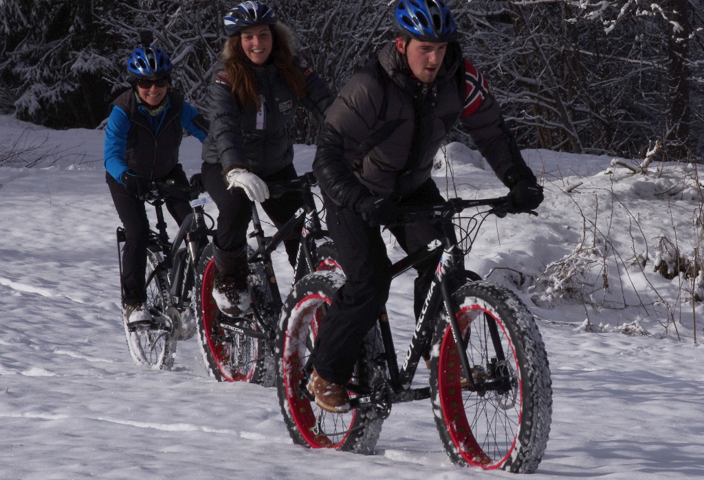 gruppo Ecomotion in fatbike