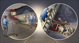 Dal NEJM, il dilemma etico della Trolleyology