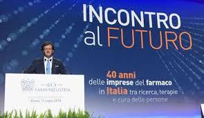 Il presidente Farmindustria Massimo Scaccabarozzi all'assemblea dei 40 anni