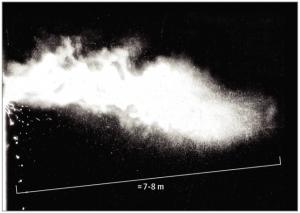 Nuvola di gas provocato da uno starnuto