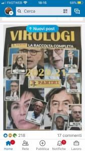 L'ironica collezione di figurine Virologi apparsa sui social