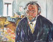 "Edvard Munch, ""Autoritratto con Influenza Spagnola"""