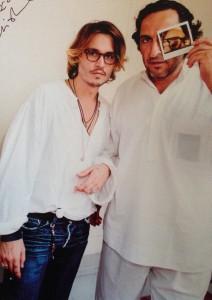 Johnny Depp con Maurizio Galimberti a Venezia durante il backstage