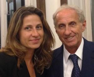 Nino Anzani, alla guida di Poliform, con la figlia Marta, corporate manager dell'azienda