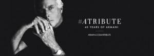 L'hashtag ufficiale per i 40 anni della Giorgio Armani S.p.A