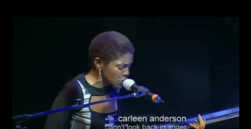 Carleen Anderson live performance - Don't Look Back In Anger