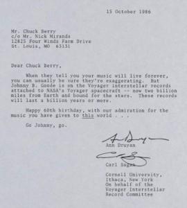 Lettera Nasa a Chuck Berry