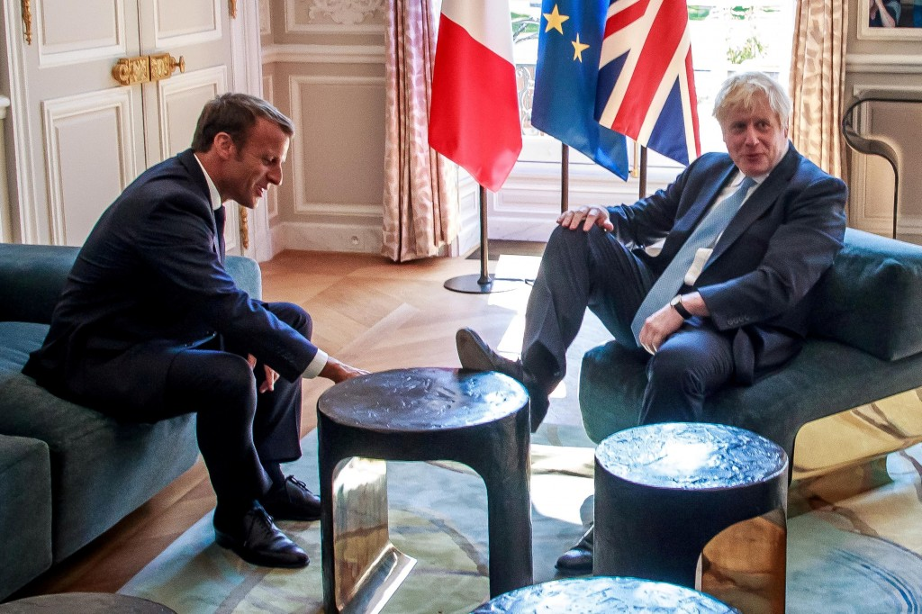 British Prime Minister Boris Johnson visit in Paris