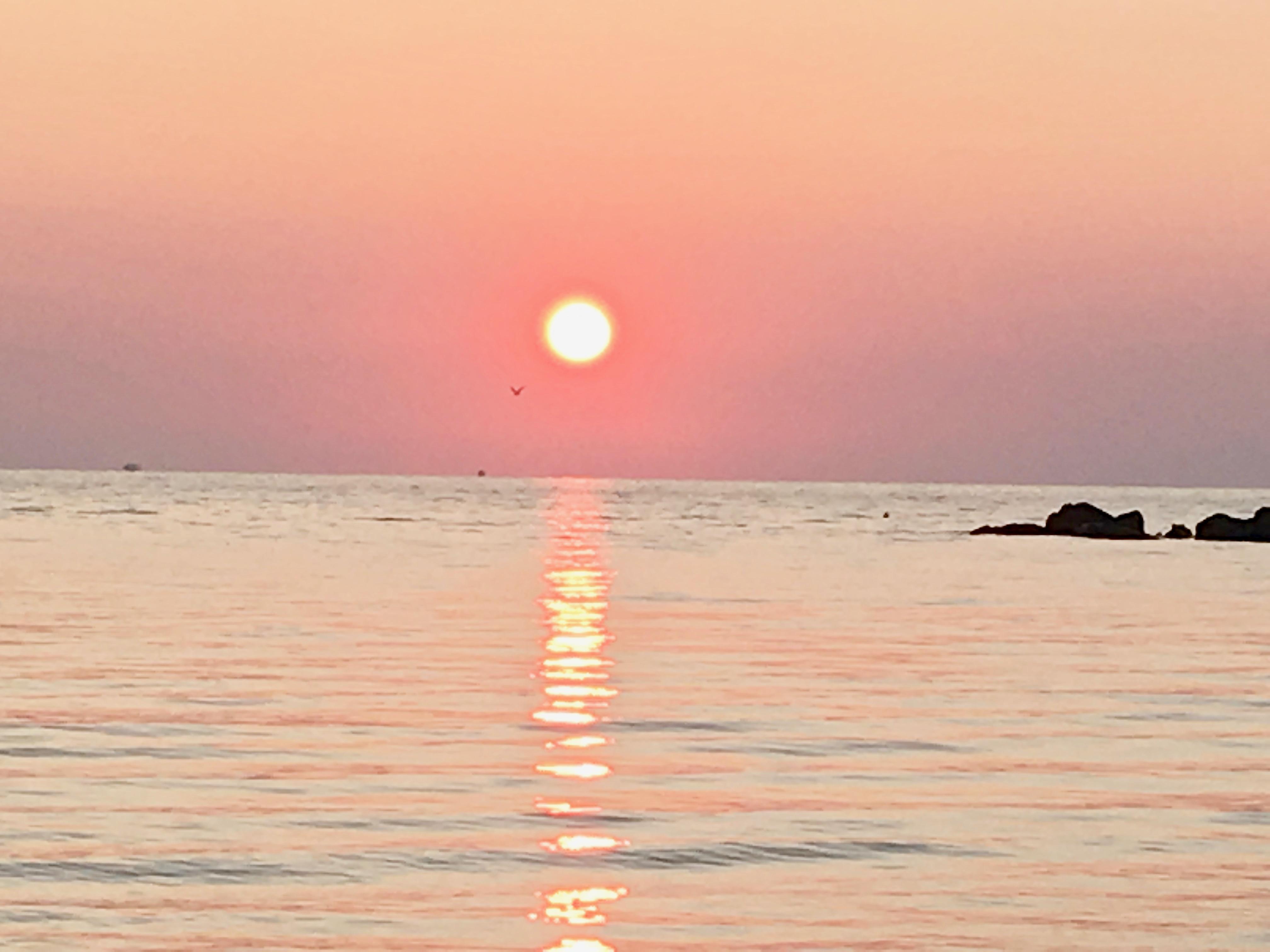 L'alba.