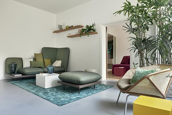 La zona living di Casa Flora (foto di Valentina Sommariva)