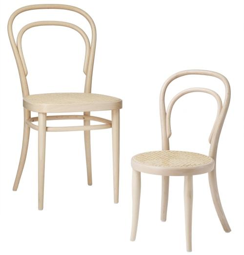 Le sedie Thonet pensate per i più piccoli, da usare anche fuori casa
