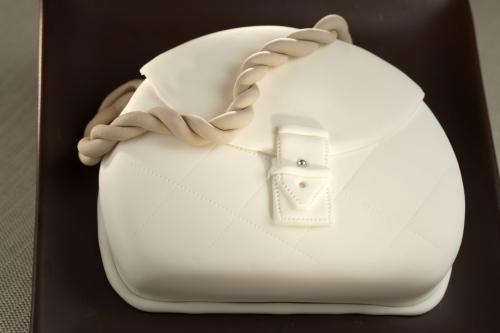 Per le amanti dello shopping, una raffinata torta alla moda
