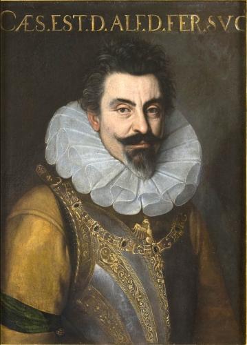 Dalla Galleria Antiquaria Cantore, il raro ritratto di Cesare d'Este (Ferrara 1562-Modena 1628), attribuito a Cesare Aretusi (Bologna 1540-Toscana1612). Olio su tela, cm 74x55