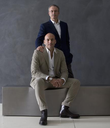 Giorgio ed Emanuele Busnelli, figli del fondatore Piero Ambrogio, rispettivamente presidente e amministratore delegato dell'azienda