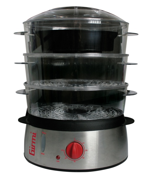 Vaporiera PC20 di Girmi, per preparare cibi in modo sano, naturale e privo di grassi. 49,90 euro