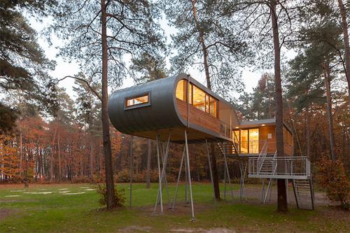 La tree house belga, dall'esterno