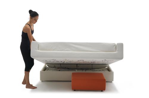 Per i figli che ritornano a vivere sotto lo stesso tetto dei genitori, il sistema divano-letto soggiorno 365 di Campeggi