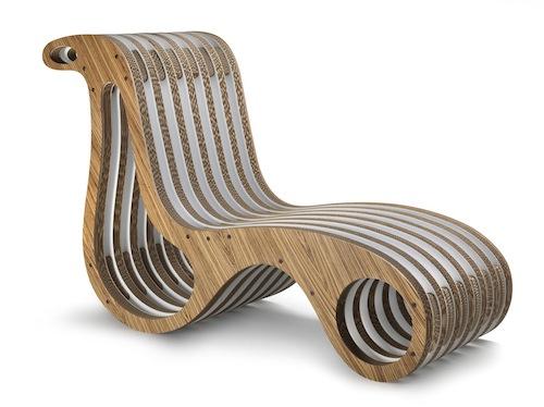 Seduta ergonomica, dalla forma fluida, per X2 Chair di Lessmore. Può essere poltrona o chaise longue, singola o doppia