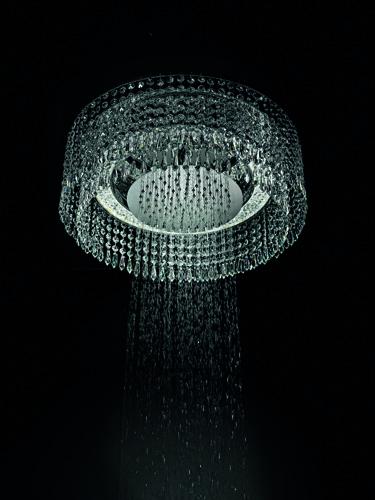 Lampadario e doccia, di Marcel Wanders per Bisazza Bagno
