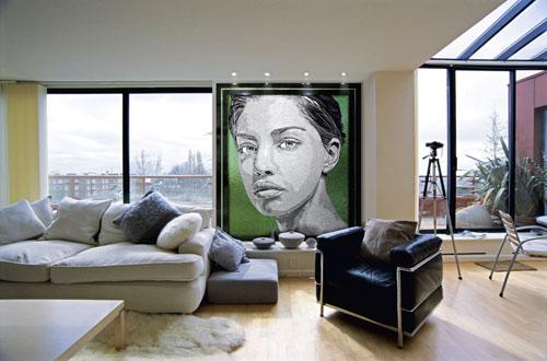 Ritratti di Sicis. In mosaico di vetro