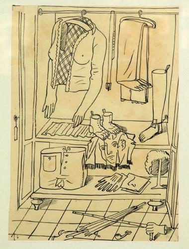 Il guardaroba surreale disegnato da Piero Fornasetti