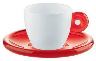 Il rito del caffè con Guzzini. In foto, Gocce, il set da due costa 17,14 euro