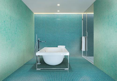 Beside, il mosaico color acqua marina di Massimiliano Adami per DesignTaleStudio