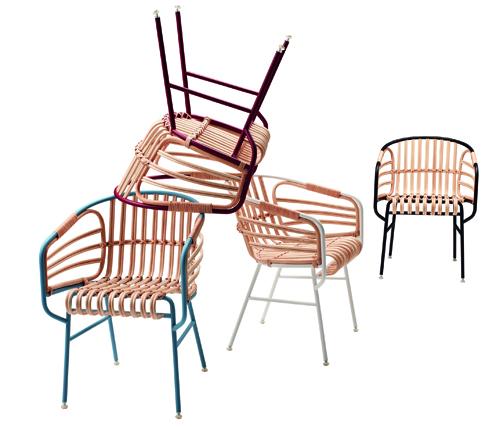 La sedia Raphia, di Lucidi e Pevere per Casamania