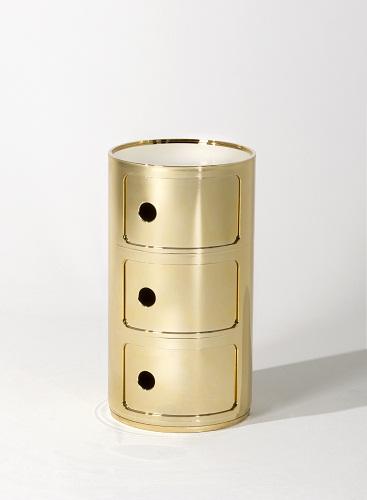 I componibili di Kartell, adesso in versione oro