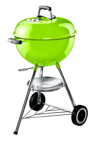 La novità di Weber: One Touch Original, il barbecue a carbone/legna con termometro integrato. Con ruote e coppetta portacenere. 179 euro