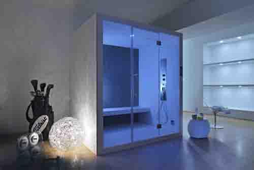 Da Grandform, Steam Lounge, ambiente cromoterapico relax