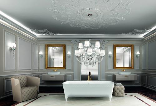 L'ambiente elegante, progettato da Carlo Colombo per Teuco