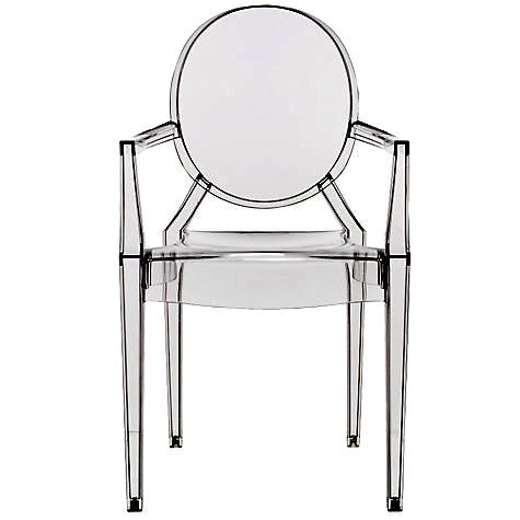 Louis Ghost nasce con il brand incorporato nella seduta, la scritta Kartell by Philippe Starck è parte dello stampo. La sedia contraffatta si riconosce subito perché è meno stabile e si flette quando ci si siede