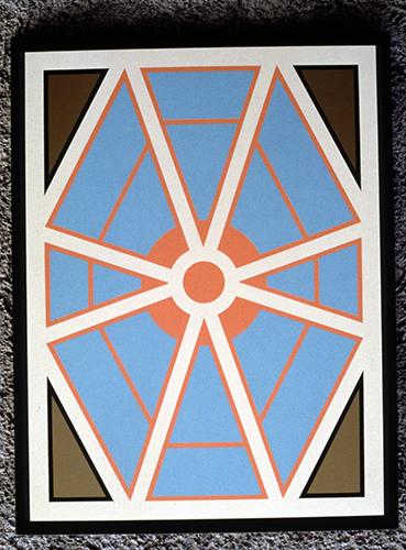 Senza Titolo, dipinto in nitro su legno, 100x70 cm 1993