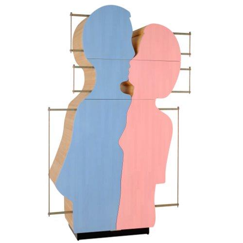 L'abbraccio è l'armadio/scultura di Le Fablier disegnato da Gaetano Pesce (22.048 euro)