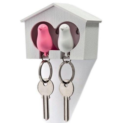 Le vostre chiavi di casa in un nido d'amore: portachiavi passerotto duo di Qualy (24,16 euro)