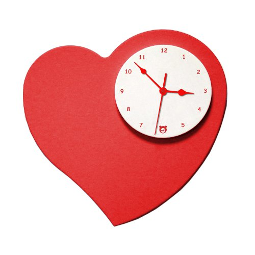Talù, marchio specilizzato in camere e complementi d'arredo per l'infanzia, dedica alle future mamme in dolce attesa l'orologio Amore caratterizzato da un meccanismo ultrasilenzione al quarzo (149 euro)