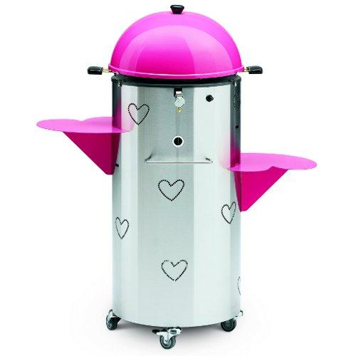 Un tocco di romanticismo anche all'aria aperta: Joysteak è un barbecue a gas di Palazzetti by Agatha Ruiz de la Prada, la stilista e designer che ha fatto del cuore il suo elemento caratterizzante (575 euro)