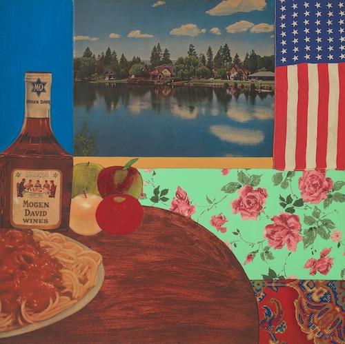 Still Life #3, il quadro di Tom Wesselmann, uno dei più grandi maestri della pop art, 1962: sono istantanee della vita quotidiana americana, fatta di natura, cibo e oggetti comuni; le immagini, a volte ritagli dei cartelloni pubblicitari, sono incollate come un collage sulla tela