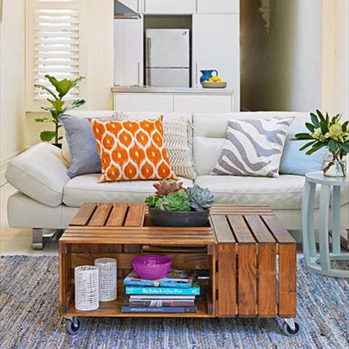 Tavolino contenitore per la zona living