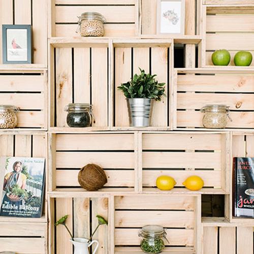 Riciclare una cassetta della frutta in 5 semplici mosse for Leroy merlin librerie