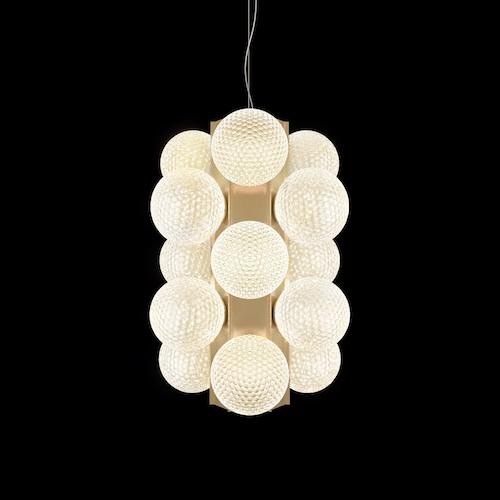 Lincoln dello studio Calvi Brambilla Architetti per Barovier&Toso, sfere luminose