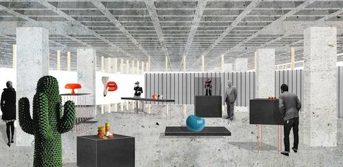 Rendering del Museo Plasticarium-Art & Design Atomium che inaugurerà a Bruxelles il prossimo 11 dicembre