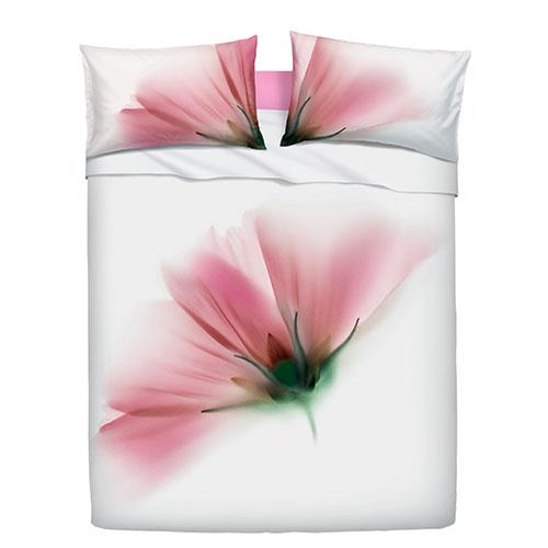 Si ispira al mondo dei fiori la parure di lenzuola Cosmos di Zucchi-Bassetti