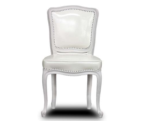 La poltrona Versailles di Baxter in pelle bianca - limited edition