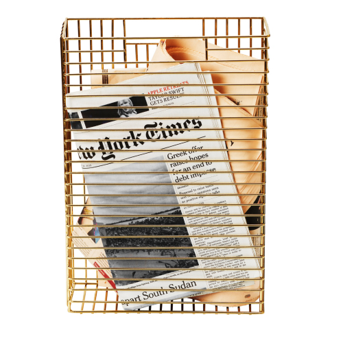 Per gli amanti della lettura il portariviste di H&M Home (19,99 euro)