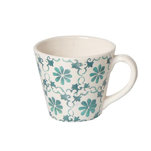 Mug in ceramica portoghese con decoro dipinto a mano di Coincasa (6,90 euro)