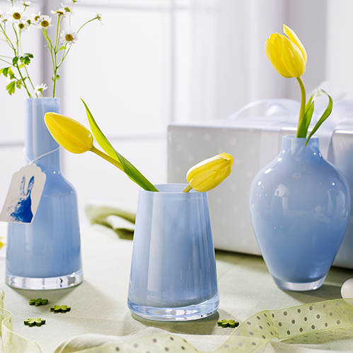 Vasi in formato mini per Villeroy & Boch: la collezione comprende cinque modelli realizzati in vetro con dimensioni e colorazioni diverse (da 14,90 a 24,90 euro)