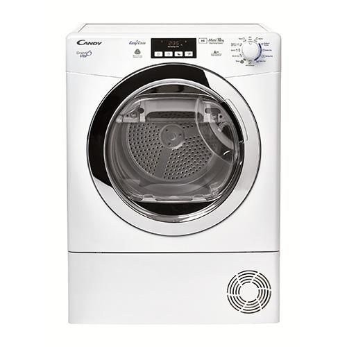 Candy Dryer GrandÓvita  è la prima asciugabiancheria da 10kg con tecnologia a pompa di calore in classe energetica A++. Si distingue per il sistema EasyCase per la raccolta dell'acqua di condensa: grazie al beccuccio integrato la si può riutilizzare ad esempio nei lavori domestici (699 euro)